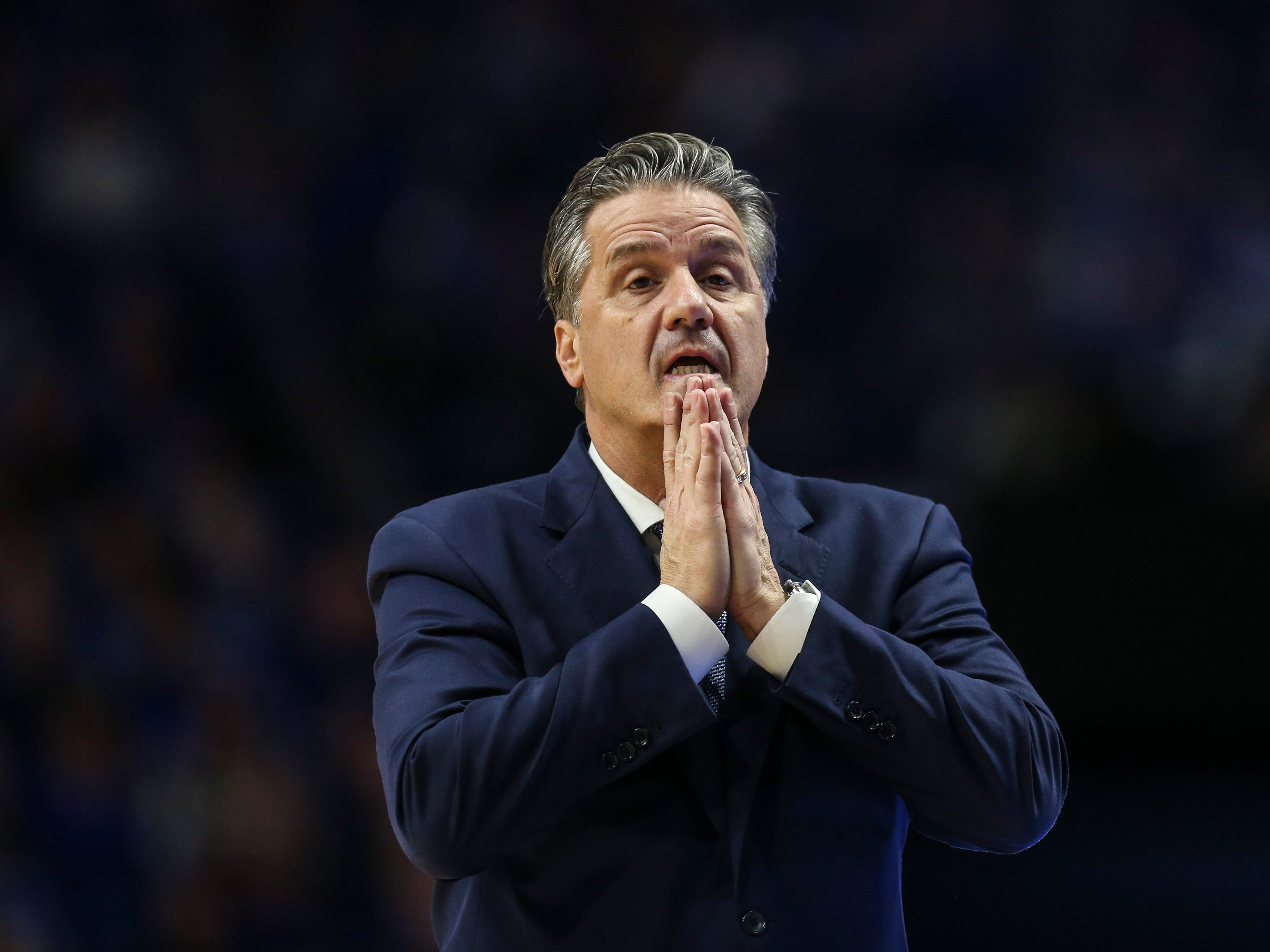 "Kentucky's John Calipari  after the win against Texas A&M said his team still isn't playing together as they should. ""I''m exhausted,"" he said. ""You're either outworking the other guy, or he's outworking you.""  January 8, 2019"