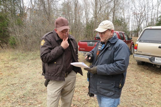 "Actor Sean O'Brien (left) and Producer Stu Pollard (right ) on location in Kentucky during filming of ""Rust Creek."""