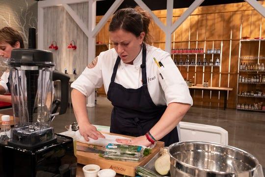 "Contestant Sara Bradley on episode 6 of Bravo's ""Top Chef: Kentucky."""