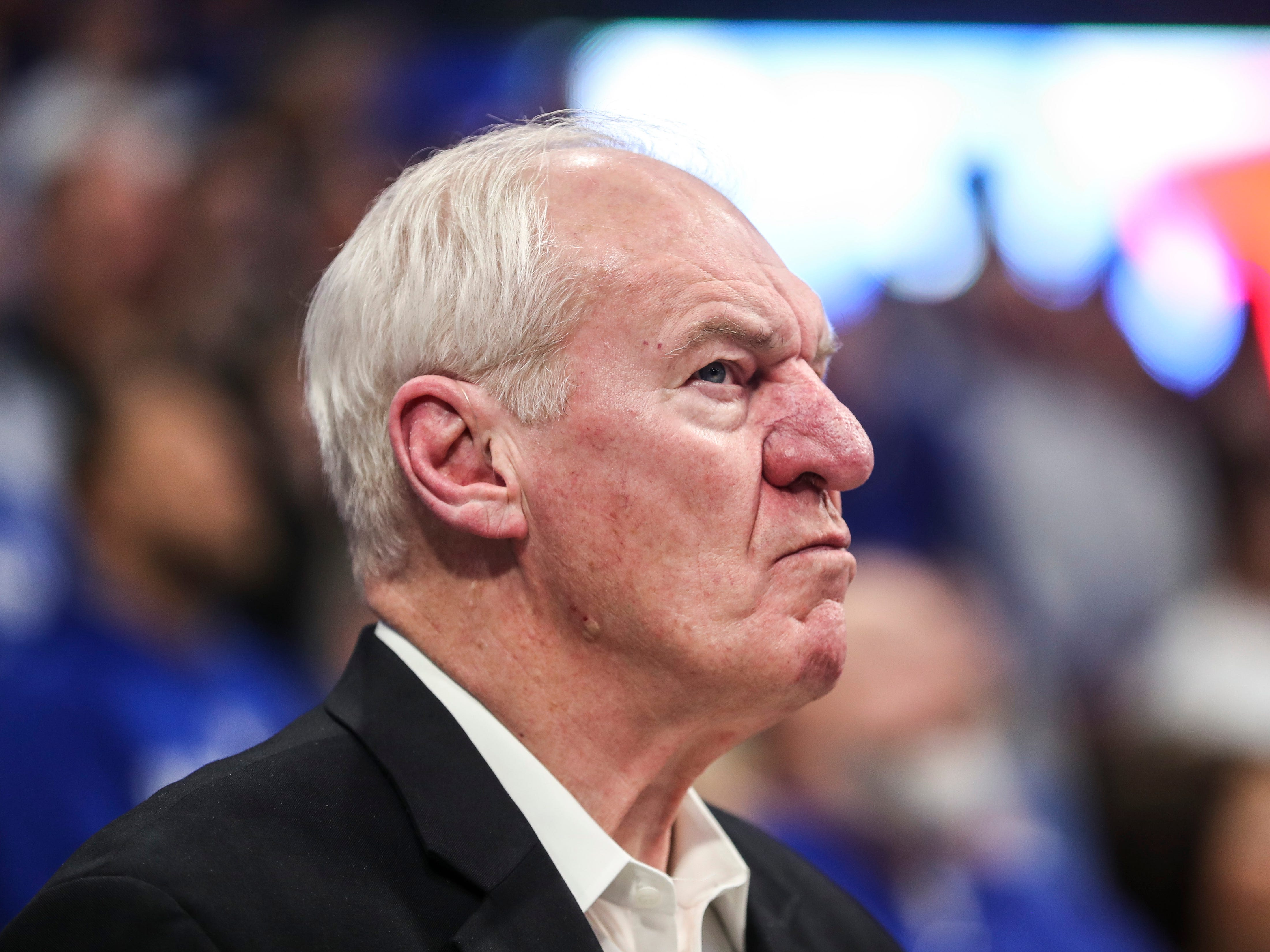 Former Kentucky and NBA player Dan Issel on the sidelines before the game against Texas A&M Tuesday, January 8, 2019.