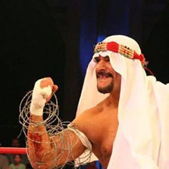 Terry Brunk, 55, grew up in Lansing, Mich. and doesn't appear willing to retire from the ring anytime soon. He has penned a book about his life.