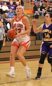 Lucas' Jessie Grover became just the fourth Lucas Lady Cub to score 1,000-career points on Saturday in a win over St. Peter's.