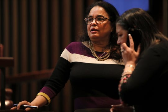 Newly elected Super District 8-2 representative Cheyenne Johnson during the Memphis City Council meeting Jan. 8.