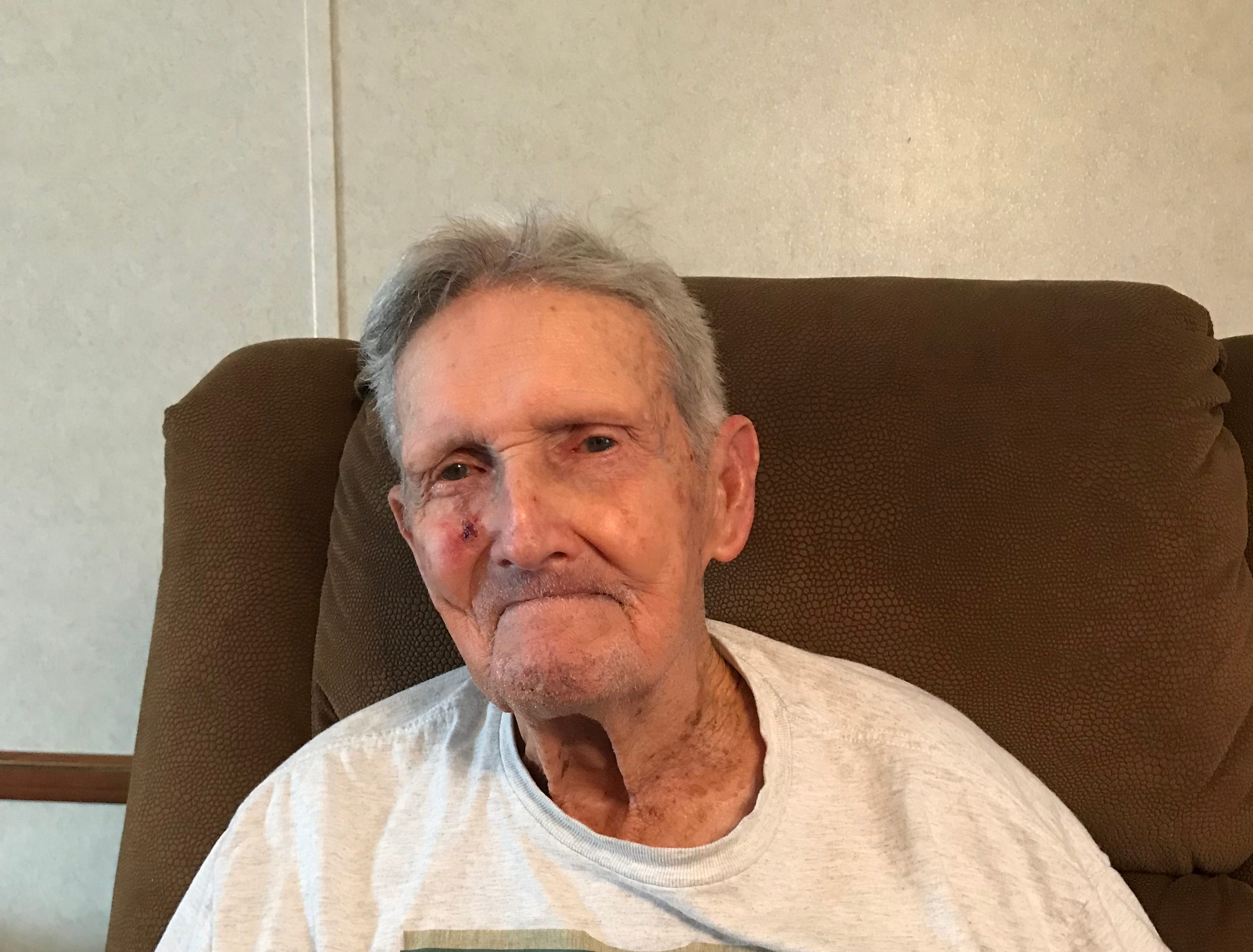 Robert Walker Sr., on his birthday Sunday. Born on Marco Island in 1921, he celebrated his 98th birthday on Sunday, Jan. 6 at his home in Cross City, Florida.