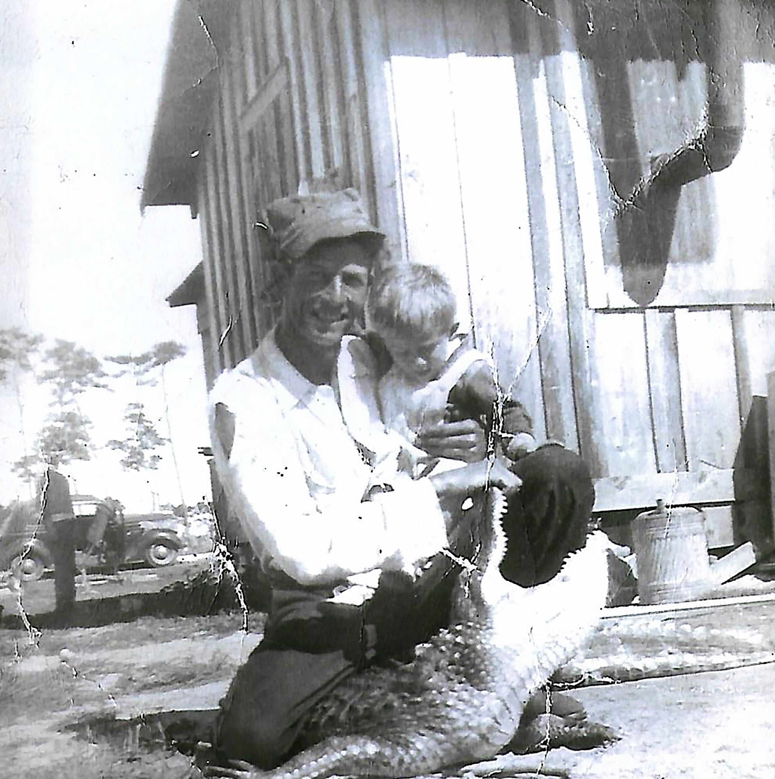 Born on Marco: Bob Walker began life on the island in 1921