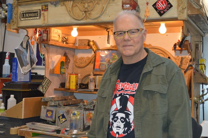 Jeff Williams, owner of The King of Paint in St. Francis, has been a sign painter for about 40 years.