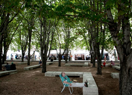 Four trees from the grove at the Marcus Center for the Performing Arts could be removed because they're in bad shape. Meanwhile, the debate continues over replacing all 36 trees with a lawn fringed by 18 trees.