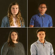Barrett Poetker (upper left), Alex Hart-Upendo (upper right), Reyna Saldana (lower left) and TJ Esser (lower right) are subjects of an upcoming documentary about youth mental health.