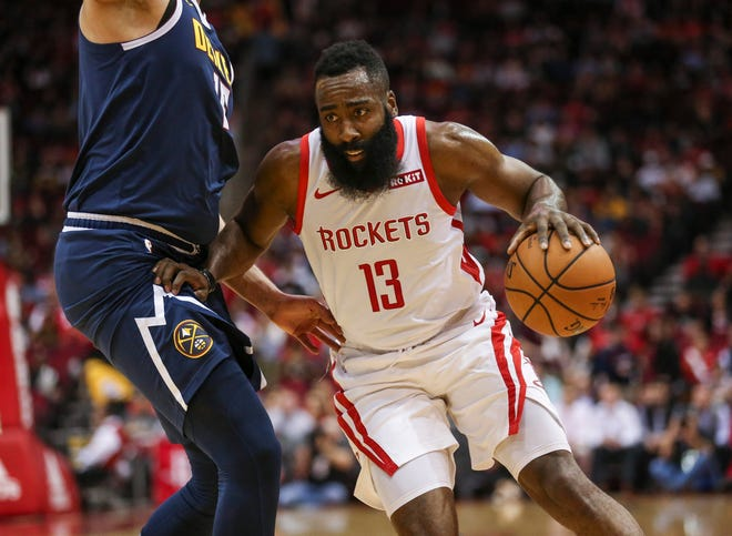 Houston's James Harden is averaging a league-leading 396 free-throw attempts heading into the game against the Bucks Wednesday night.