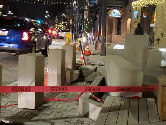 On Jan. 5 a car struck the village fountain located between Café Hollander and Café Bavaria in the 7600 block of West State Street.