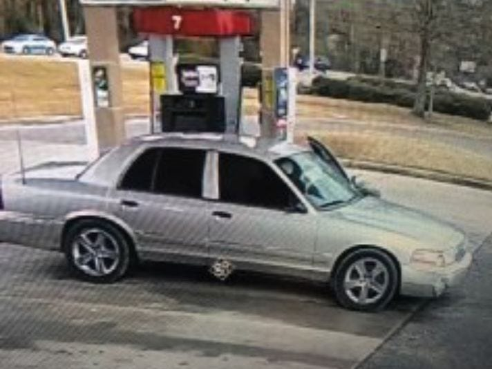 Montgomery deputies are searching for a suspect, driving this car, in a breaking and entering case.