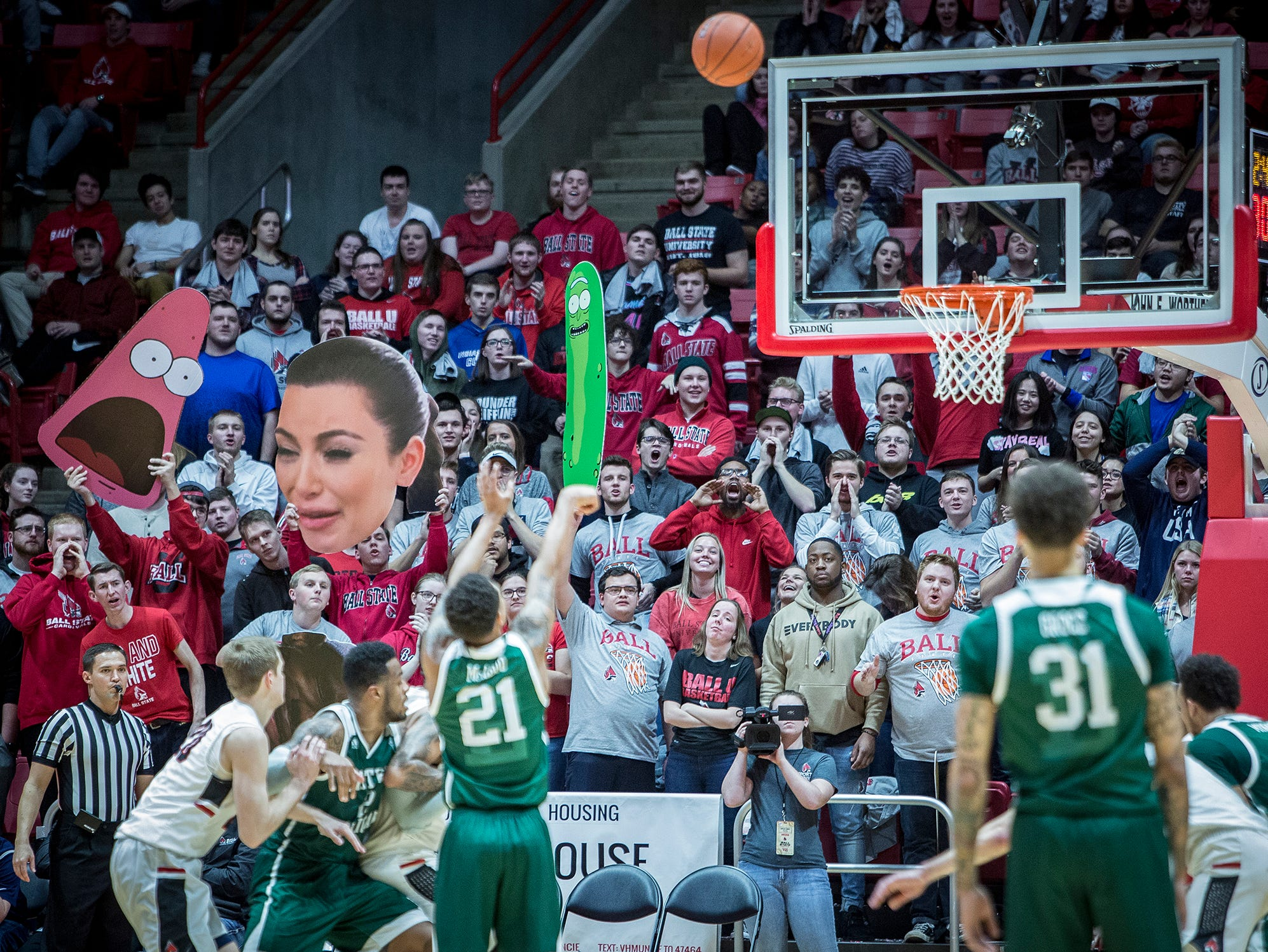 Ball State went into double overtime against Eastern Michigan during their game at Worthen Arena Tuesday, Jan. 8, 2019.