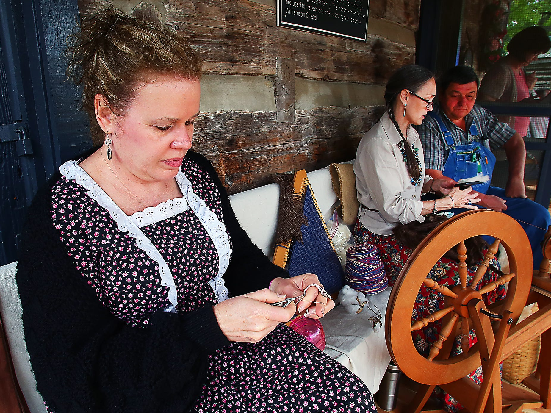 Fiber arts are featured at Cannonsburgh Village at the annual Pioneer Days.