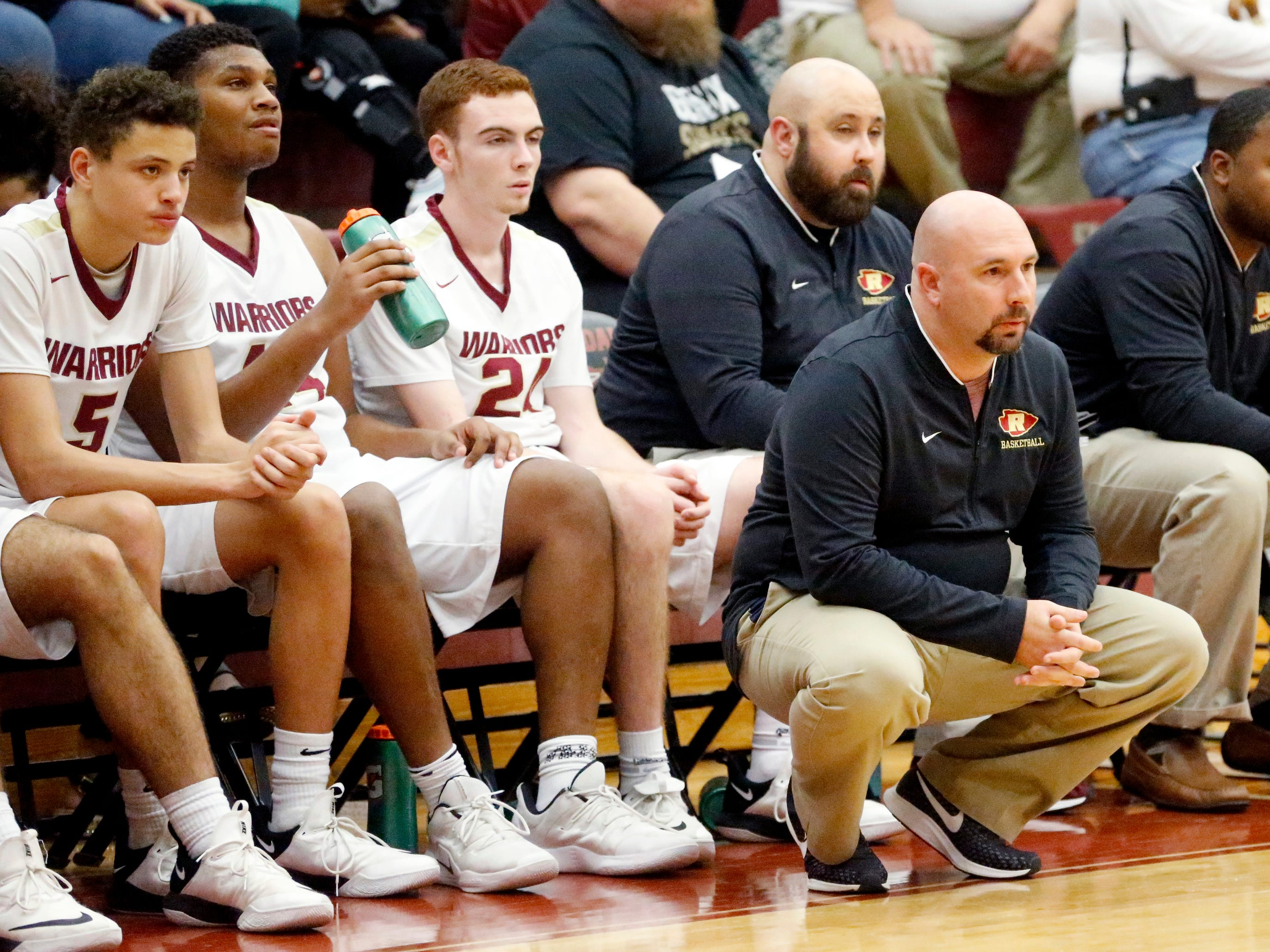Riverdale's head coach Michael Voss on the sidelines during the game against Blackman on Tuesday Jan. 8, 2019.