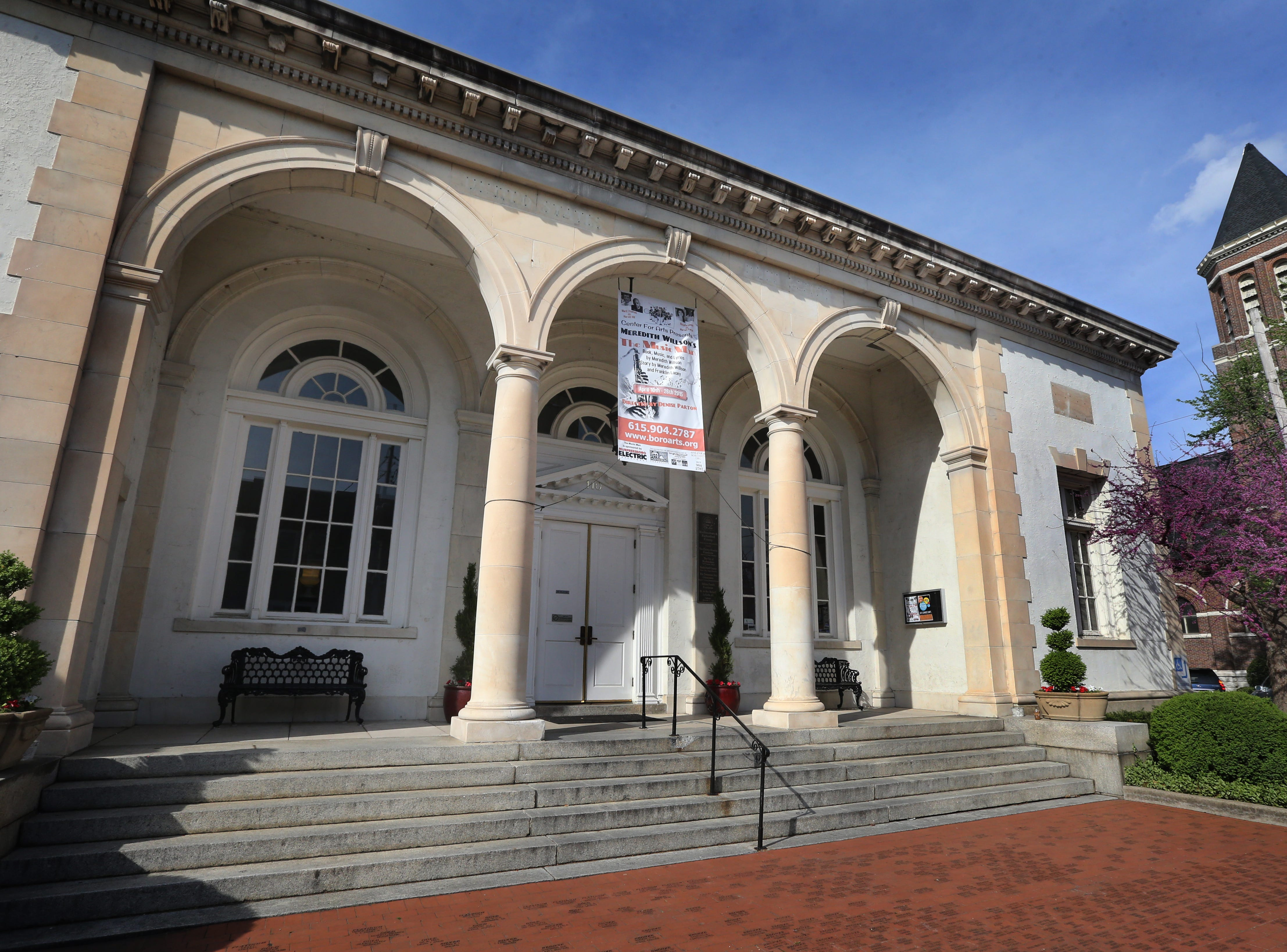 The Center for the Arts includes a stage for theatrical and musical productions and gallery space for art exhibits.