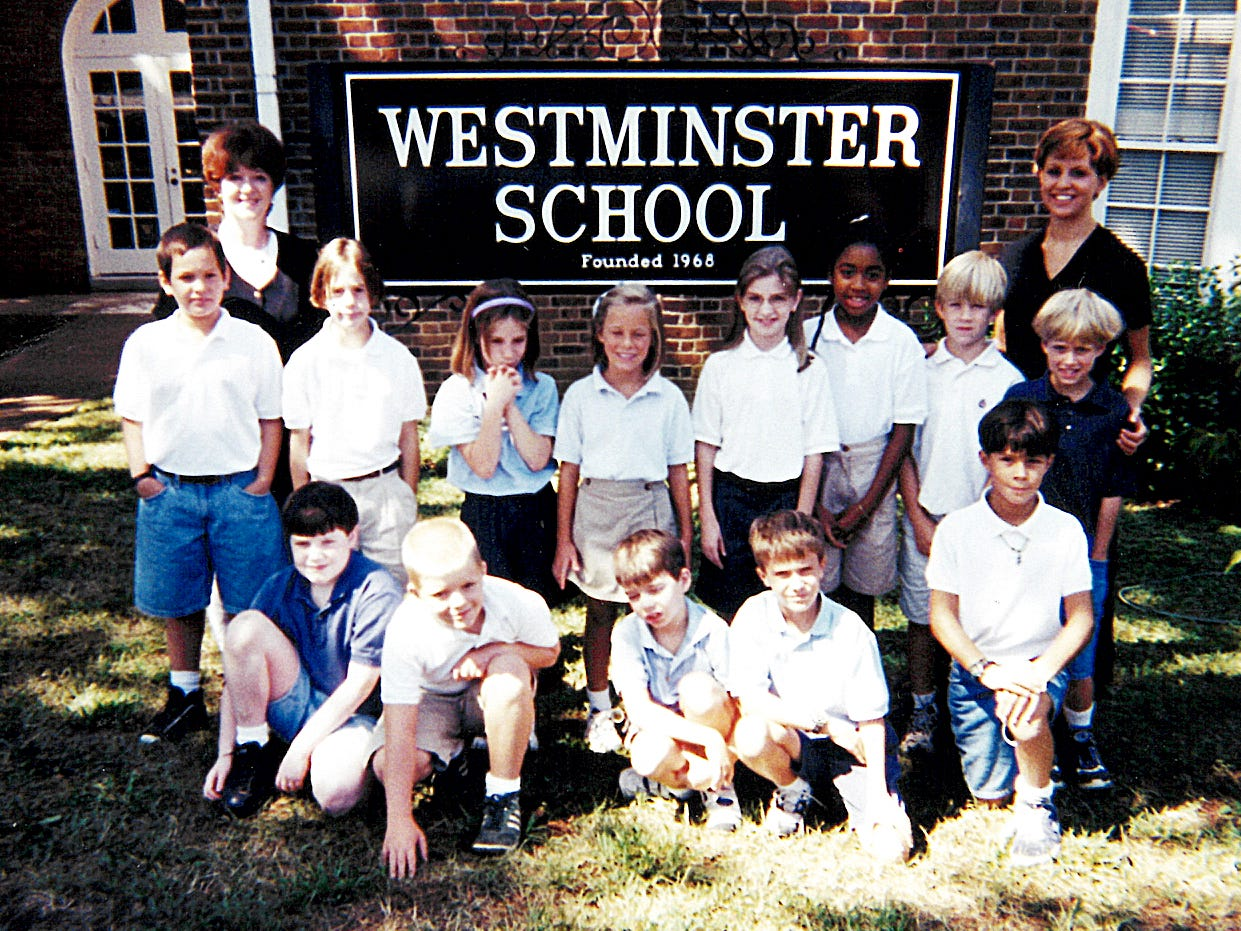 Class photo at Westminster School