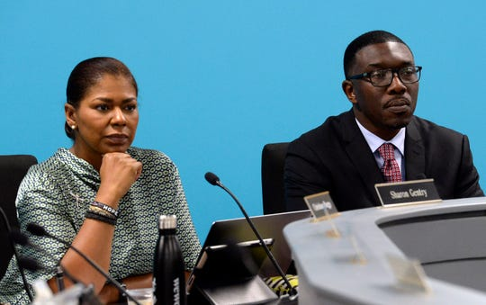 Nashville school board Chair Sharon Gentry and Director of Schools Shawn Joseph attend a board meeting Jan. 8.