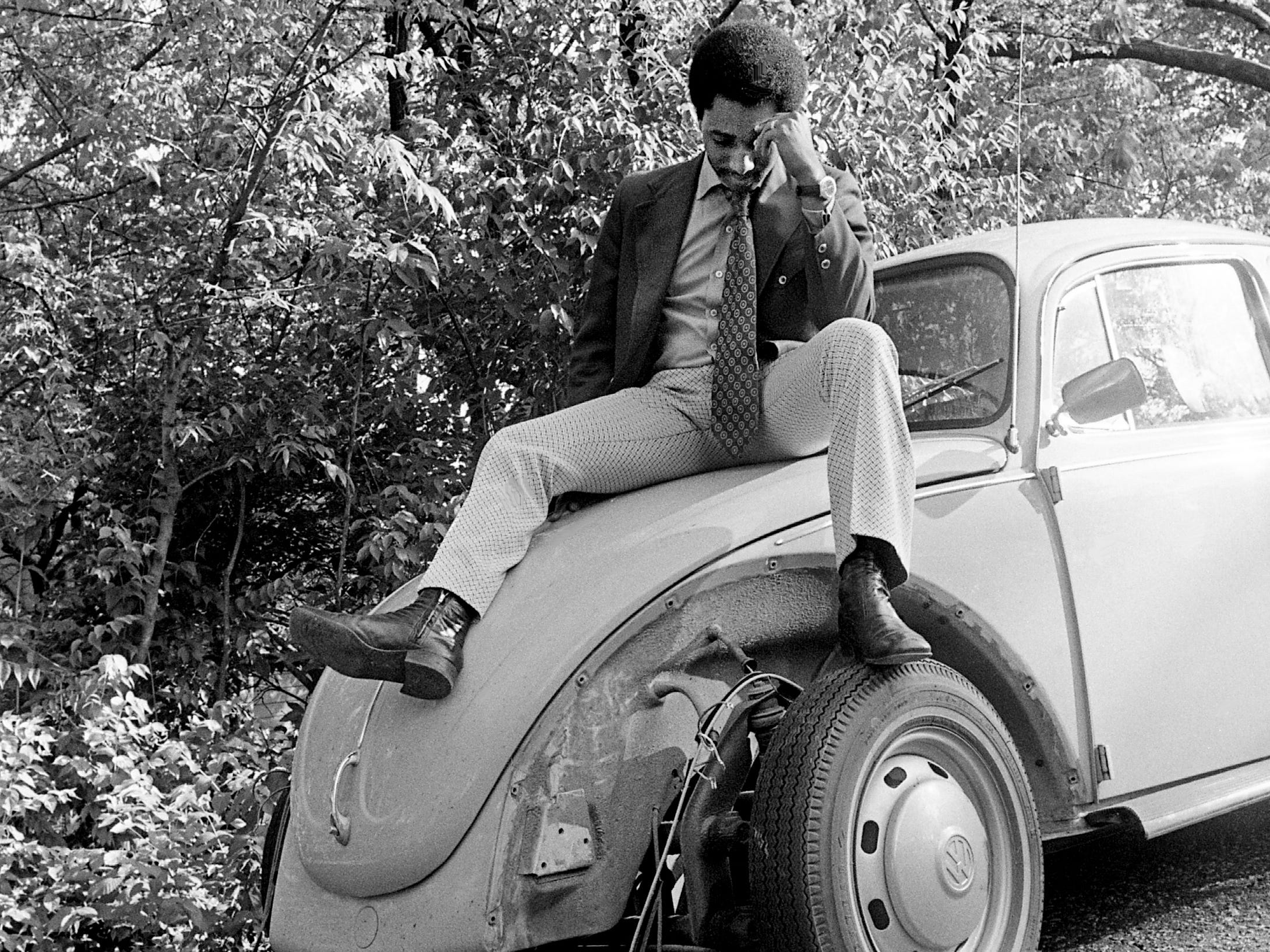 "Someone knew exactly what they wanted and took it, much to the dismay of Dwight Lewis, reporter for The Tennessean. Lewis stepped outside his home the morning of May 3, 1973, to discover the two front fenders and bumper, nothing else, missing from his shiny new Volkswagen. ""Apparently that was all they needed,"" Lewis said. ""They removed them carefully so as not to damage the rest of the car. I guess I can be thankful for that."""