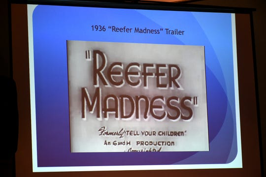 "The audience viewed clips from the 1936 anti-""marihuana"" film ""Reefer Madness."" A program entitled ""Cannabis Forum: Medical Marijuana and You"" was presented at the Unitarian Universalist sanctuary in north Naples on Monday, Jan. 7."