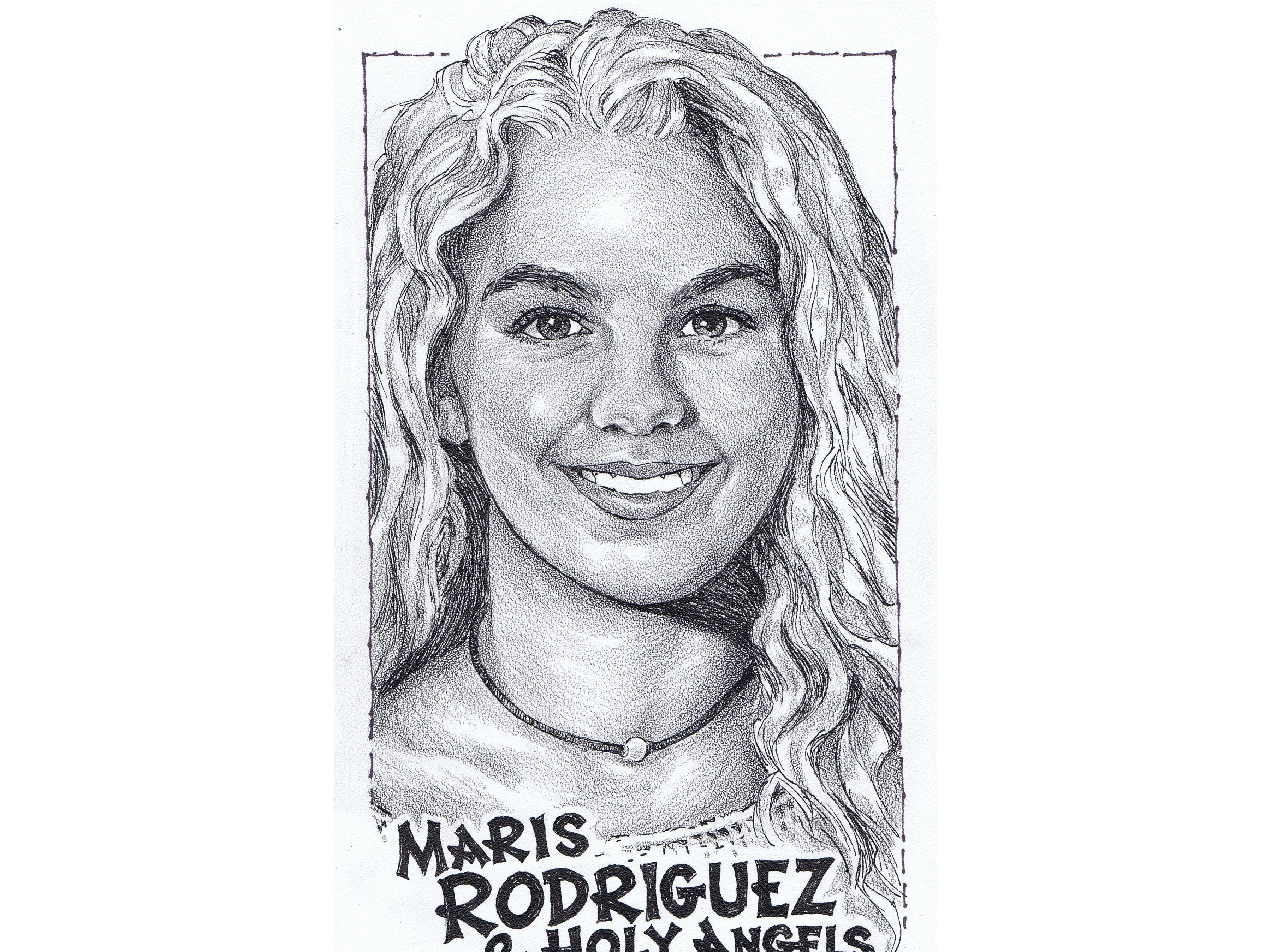 Maris Rodriguez, Holy Angels track and field