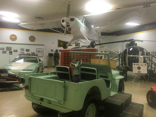 In this Nov. 29, 2018 photo, a vintage U.S. Border Patrol vehicle sits in a museum for the border patrol in El Paso.