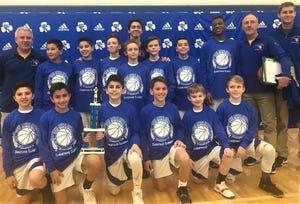 The Farmington Our Lady of Sorrows grades 5-6 boys basketball team captured two holiday tourneys.