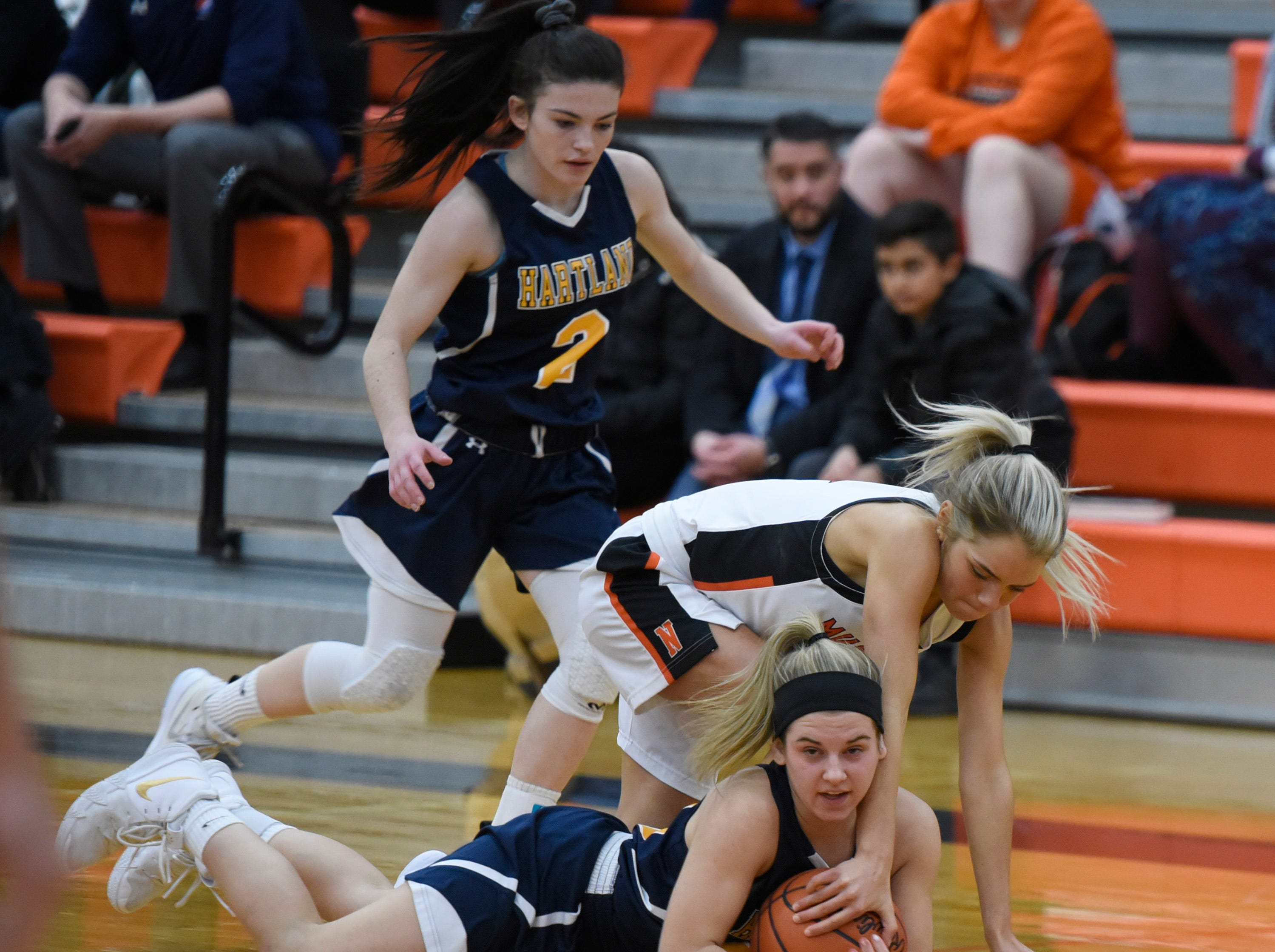 Action during KLAA match up between the Northville and Hartland Jan. 8, 2019