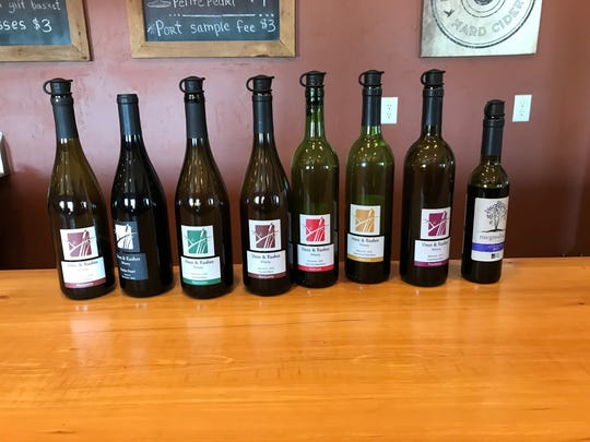 Rushes & Vines has 15-20 wines available to taste at a time.