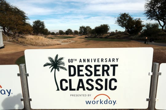 Signs for the upcoming Desert Classic golf tournament on Tuesday, January 8, 2019 in La Quinta.