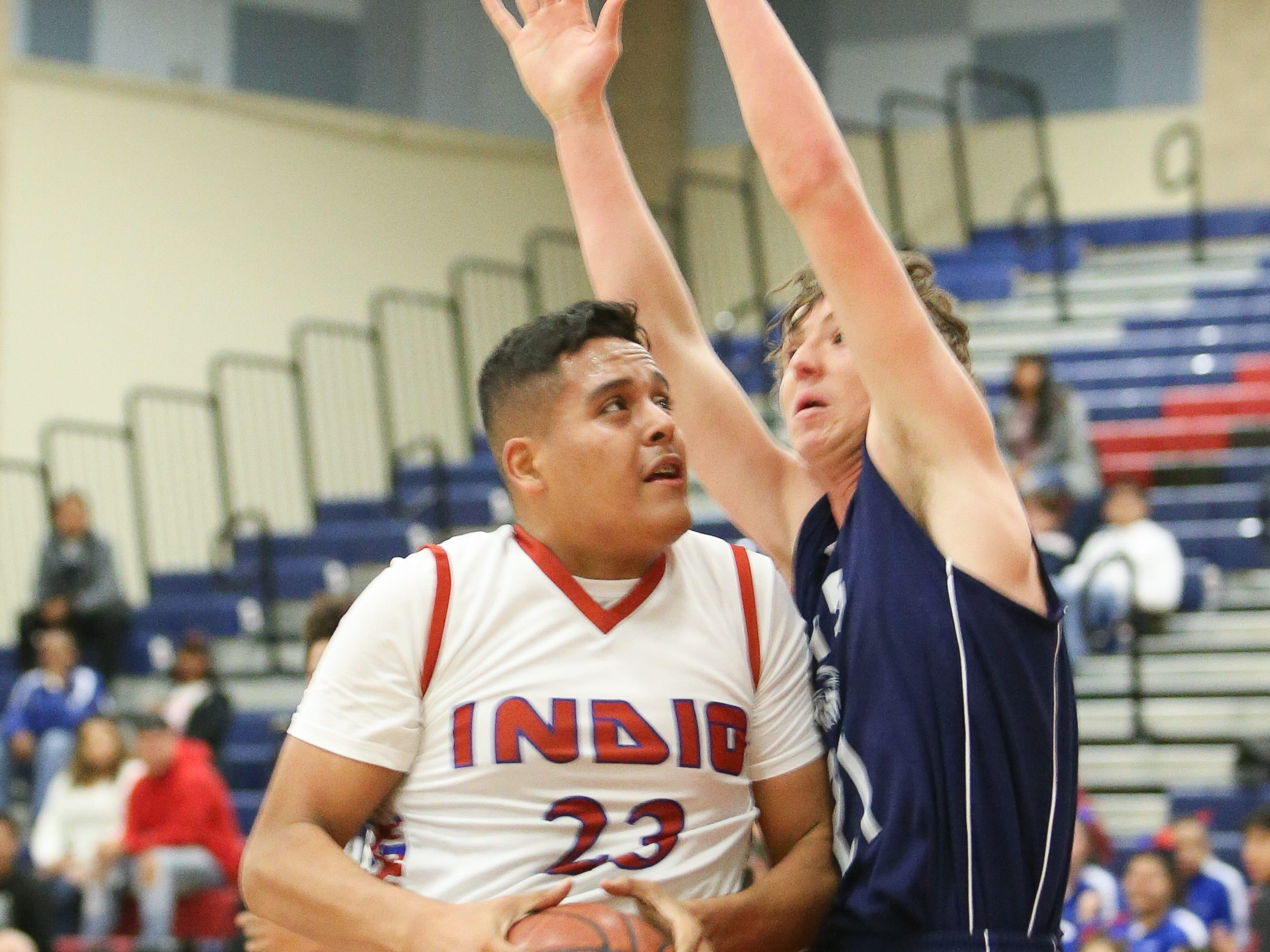The Indio varsity basketball team won Tuesday's home conference game against Desert Hot Springs (CA) by a score of 64-59.