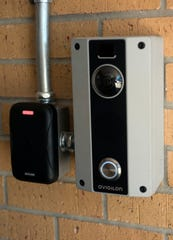 The Santa Rosa County School District installed a closed-access control system at King Middle School at the beginning of the school year. The security system requires visitors to be buzzed in by showing a driver's license or ID card before entering the building.