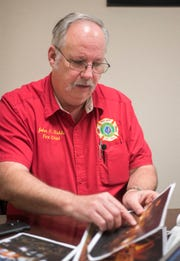 Milton Fire Department Chief John Reble talks Tuesday about the Caroline Street Fire in January 2009.