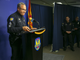 Phoenix police Sgt. Tommy Thompson addresses reporters Jan. 8, 2019, at a press conference at his department's headquarters. He discussed the case of a patient in a Hacienda HealthCare center for people with intellectual disabilities who became pregnant and gave birth.