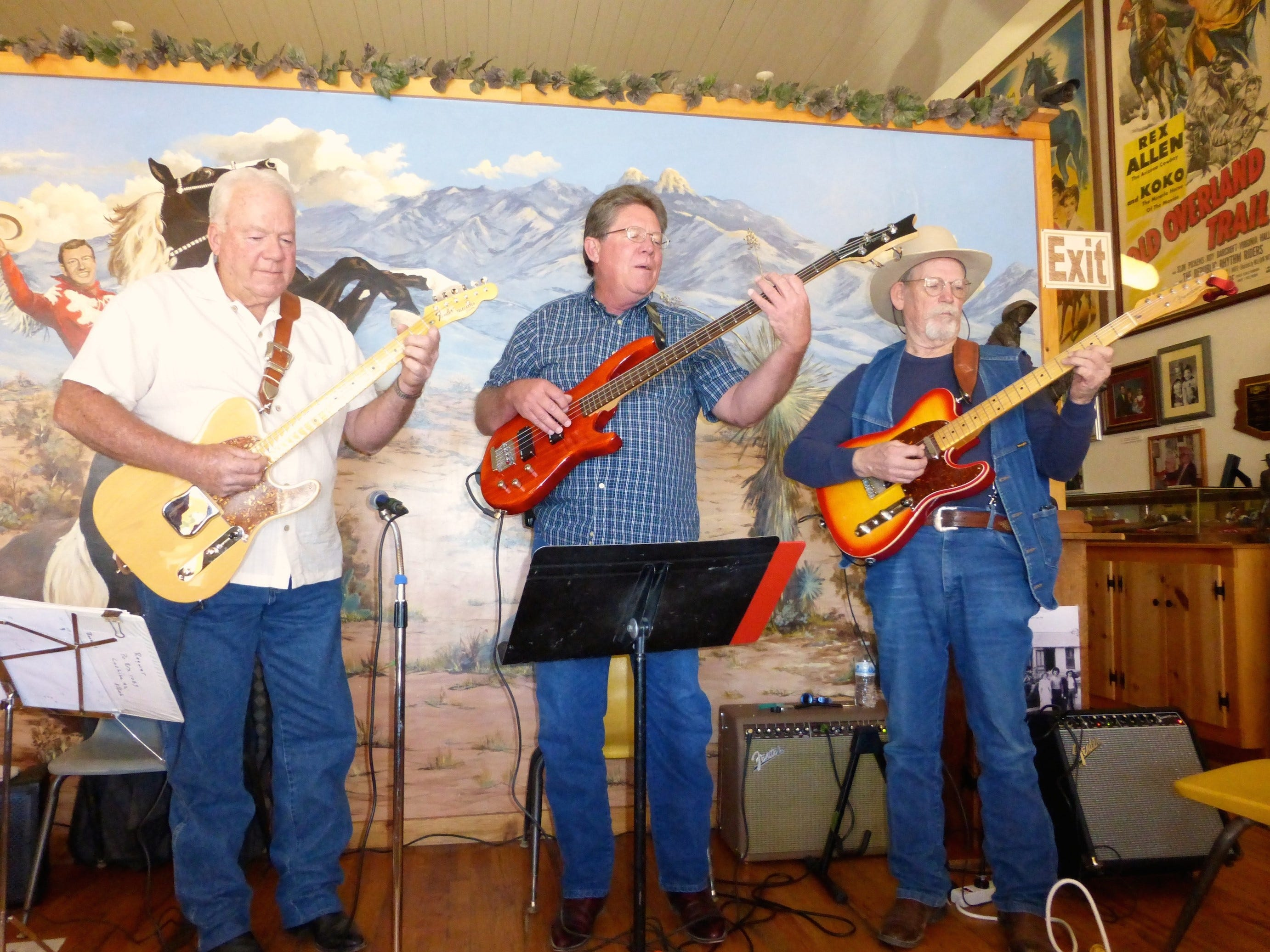 A jam session takes place at the Rex Allen Museum in downtown Willcox.