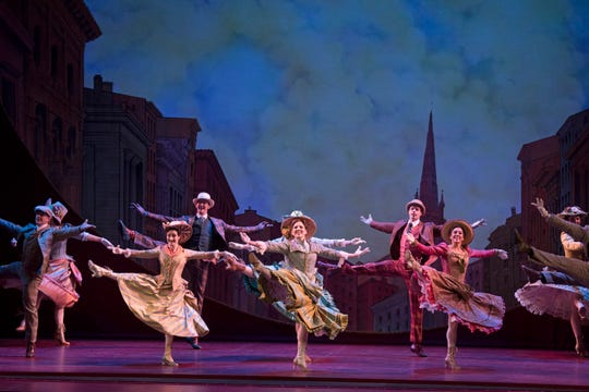 "The national touring company of ""Hello, Dolly!"" based on the 2017 Broadway revival."
