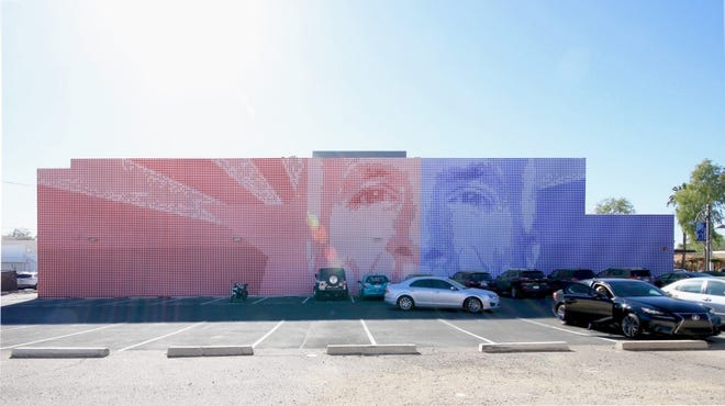 """The """"Maverick Mural,"""" the brainchild of local artists Aaron Bass and collaboratorsTommy Suchart, and would honor John McCain."""