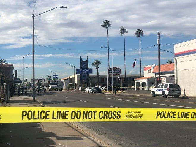 Phoenix police investigated a shooting near Fourth Avenue and Van Buren Street.