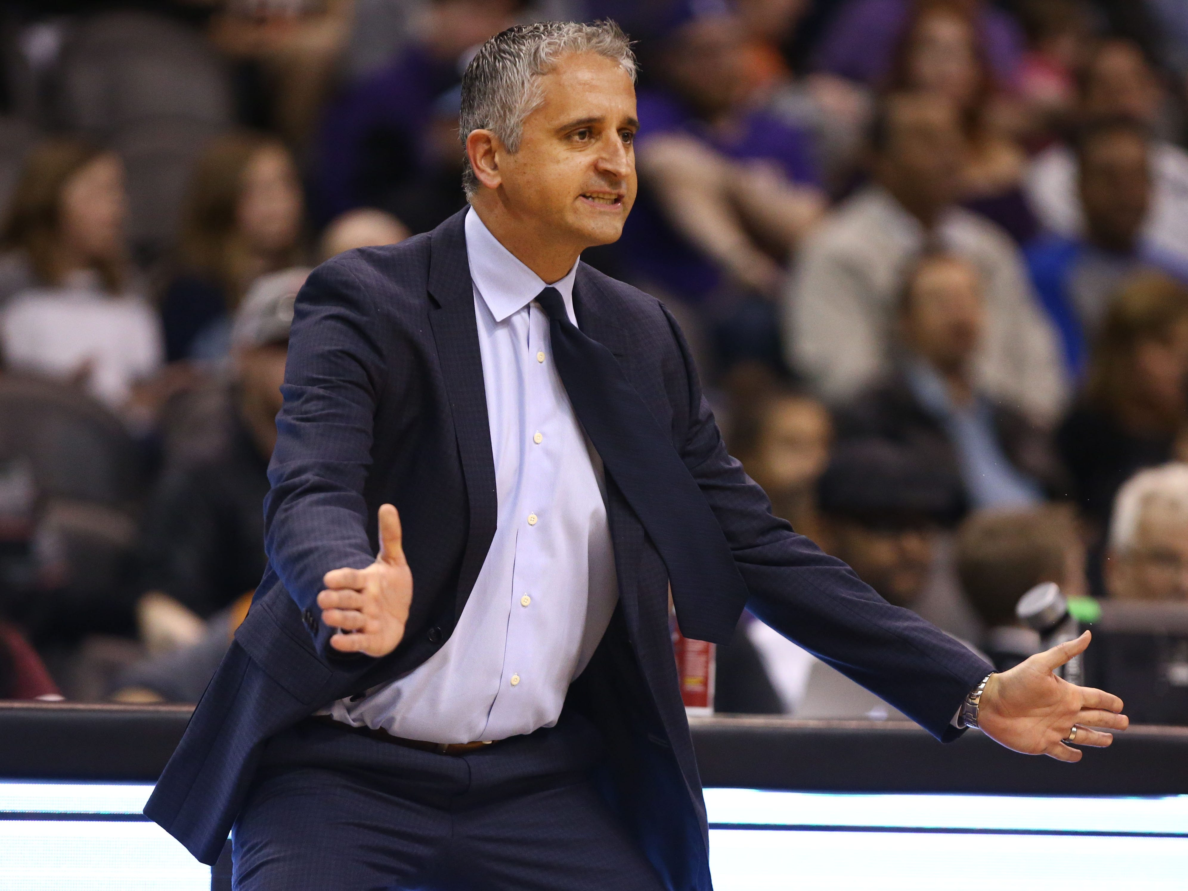 Phoenix Suns Coach Igor Kokoskov against the Sacramento Kings in the second half on Jan. 8 at Talking Stick Resort Arena.