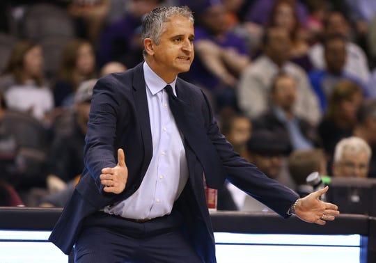 Phoenix Suns Coach Igor Kokoskov against the Sacramento Kings in the second half on Jan. 8 at Talking Stick Resort Arena.