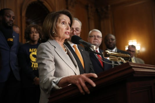 House Speaker Nancy Pelosi And Senate Democratic Leader Chuck Schumer Address The Shutdown Impacts With Furloughed Federal Workers