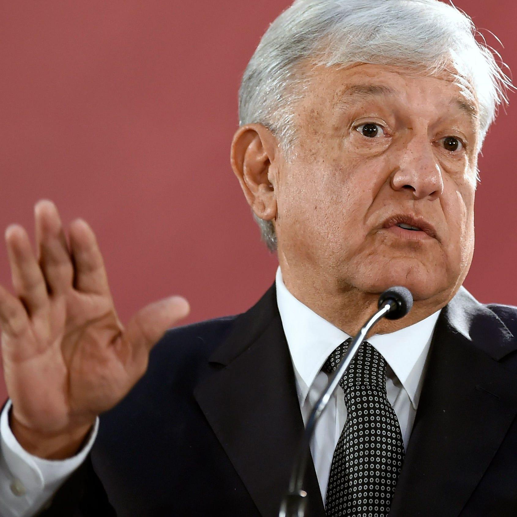 """AMLO dice que disputa por el muro en EE.UU. es un """"asunto interno"""""""