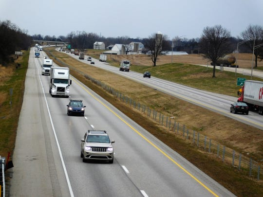 Vehicles travel on Interstate 81 in Antrim Township on Wednesday, January 9, 2019. Southbound traffic on the left.