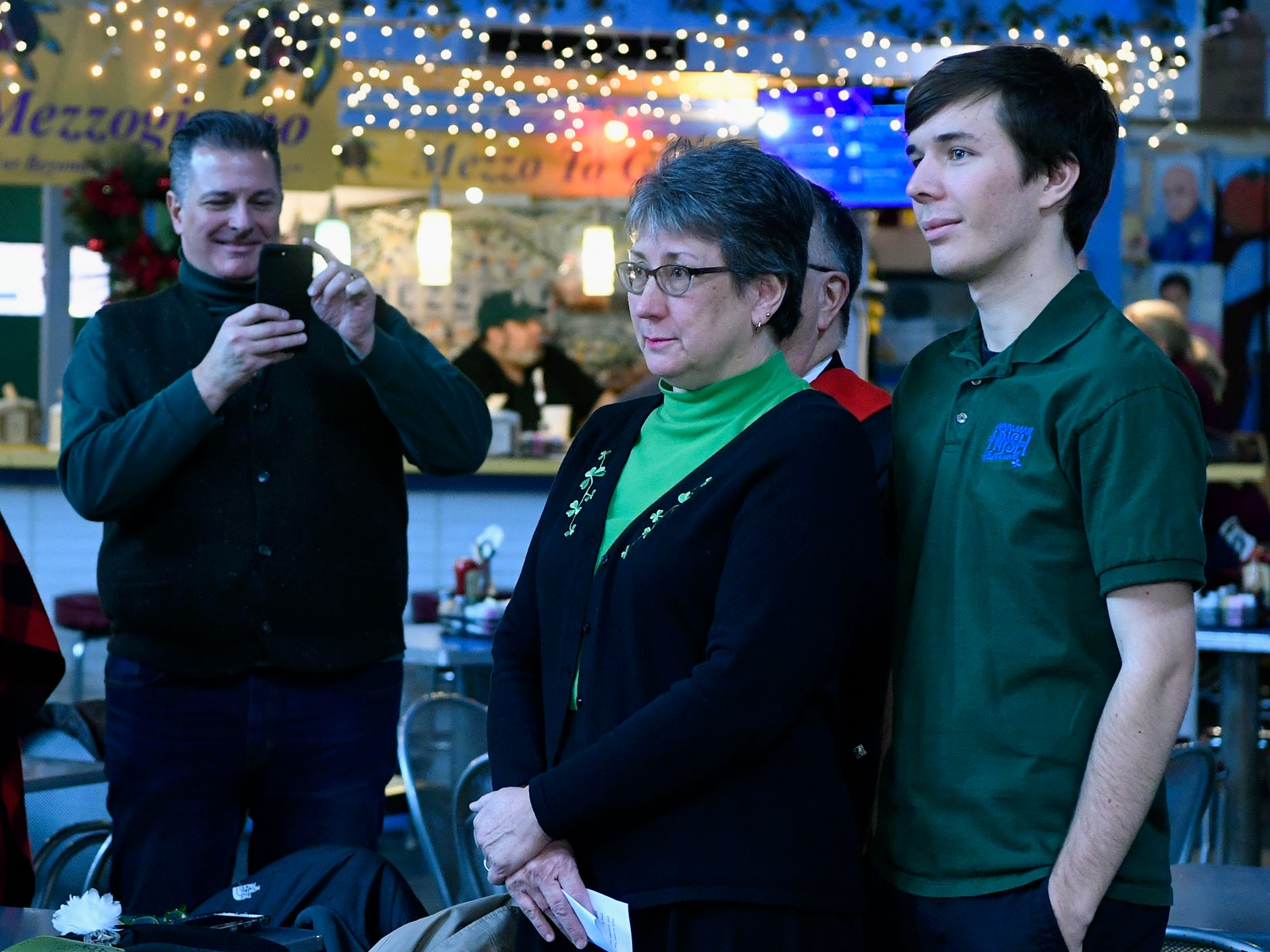 Mary Yeaple and son Jay, along with Rodney Yeaple are announced as the Grand Marshal family for the 36th Annual York Saint Patrick's Day Parade, Wednesday, January 9, 2019. The parade will be held Saturday, March 16. John A. Pavoncello photo