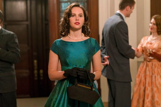 "Felicity Jones portrays Ruth Bader Ginsburg in ""On the Basis of Sex."" The movie opens Friday at Regal West Manchester Stadium 13 and R/C Hanover Movies."