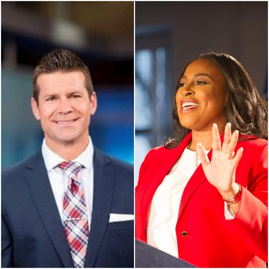 Former Channel 10 meteorologist Jeremy Kappell and Rochester Mayor Lovely Warren.