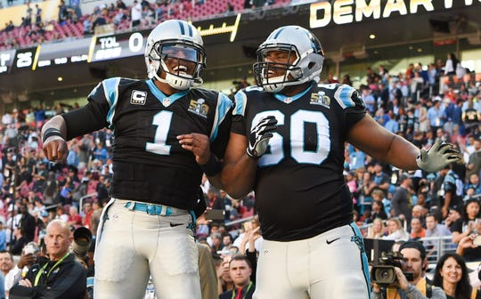 Carolina Panthers quarterback Cam Newton would likely miss tackle Daryl Williams if he were to leave in free agency.