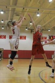 Red Creek basketball player Isabella Wilburn