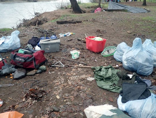 Nearly 2 tons of trash were collected Jan. 8, 2019, along the Sacramento River in Redding.