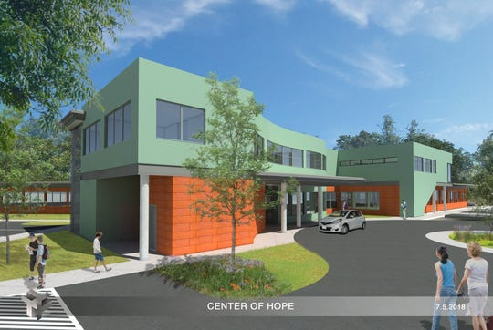 In this 2018 art rendering, Hill Country's proposed Center of Hope driveway is seen.