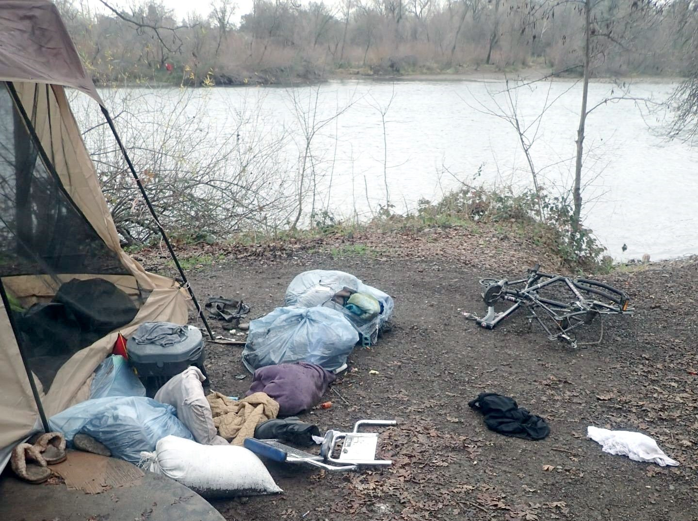 Cleanup crews removed about 3,400 pounds of trash next to the Sacramento River on Jan. 8, 2019, in Redding.